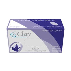 Guante de Látex clay con polvo